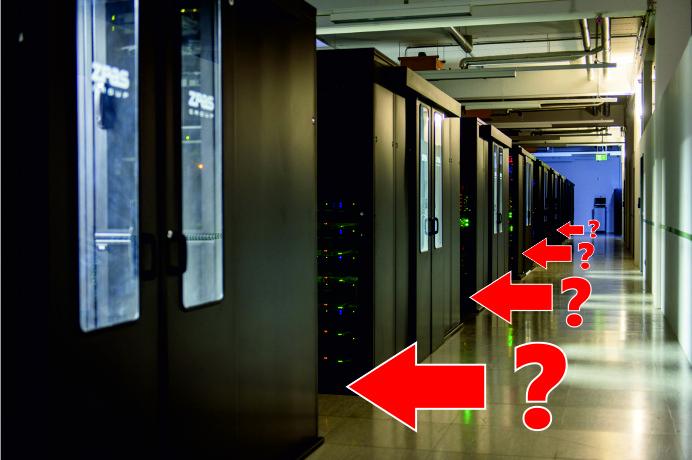 Rack-Bereich Rechenzentrum IP-Projects